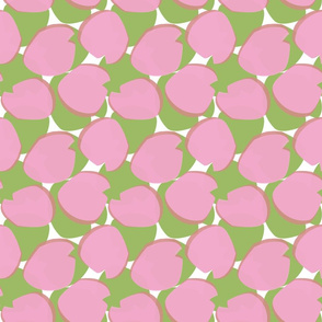 Lily Pads sm pink green