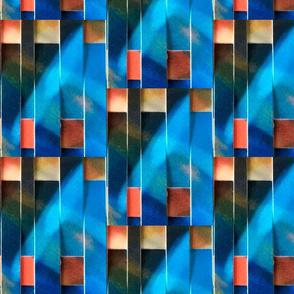 Woven Scatter Blue Slash