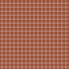 Red clay grid gridlines linen look