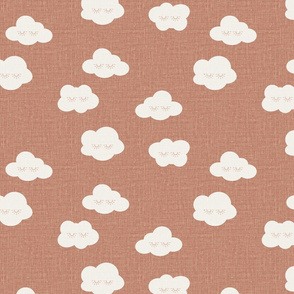 Rose Sleepy clouds linen