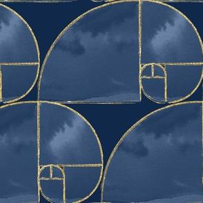 Golden Fibonacci Spiral