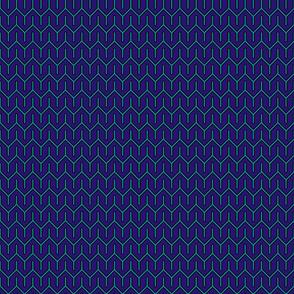 Blue chevron - Wax
