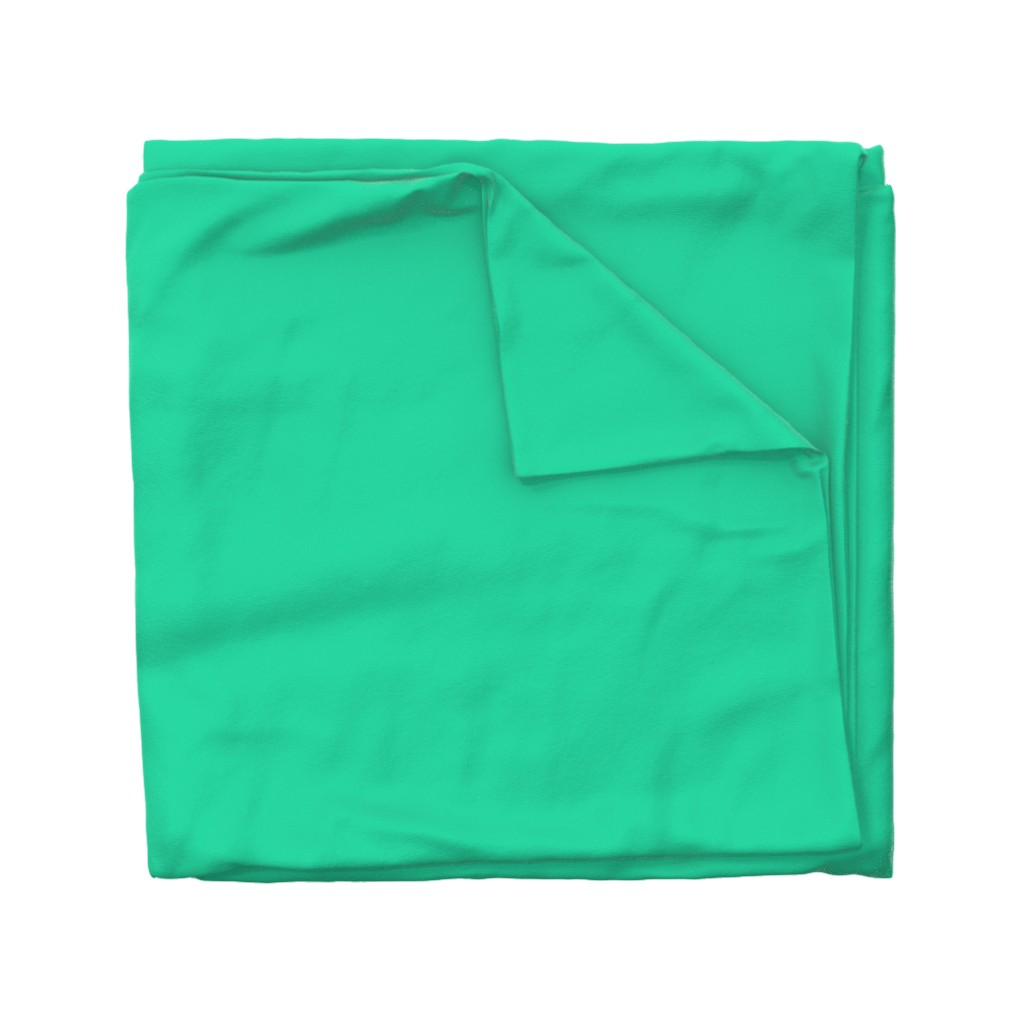 Wyandotte Duvet Cover featuring Sweetmint Green Solid Summer Party Color by paper_and_frill