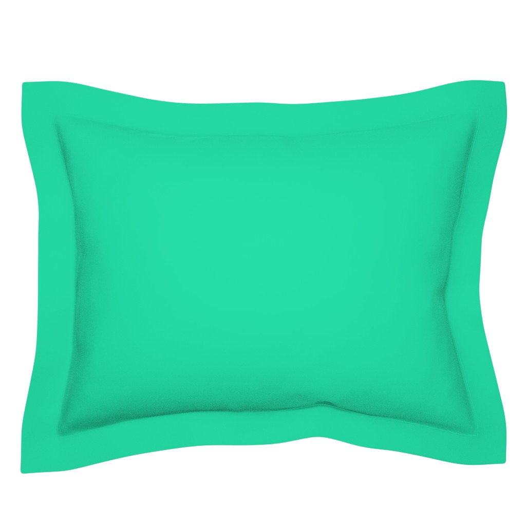 Sebright Pillow Sham featuring Sweetmint Green Solid Summer Party Color by paper_and_frill