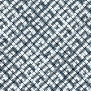 Herringbone // navy on white