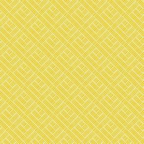 Herringbone // white on mustard