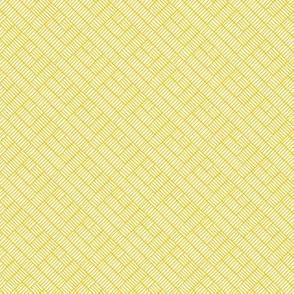 Herringbone // mustard on white
