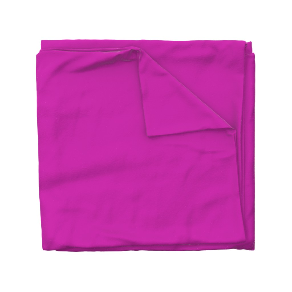 Wyandotte Duvet Cover featuring Pink Fuchsia Solid Summer Party Color by paper_and_frill