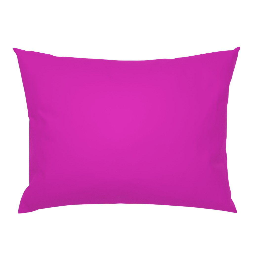 Campine Pillow Sham featuring Pink Fuchsia Solid Summer Party Color by paper_and_frill