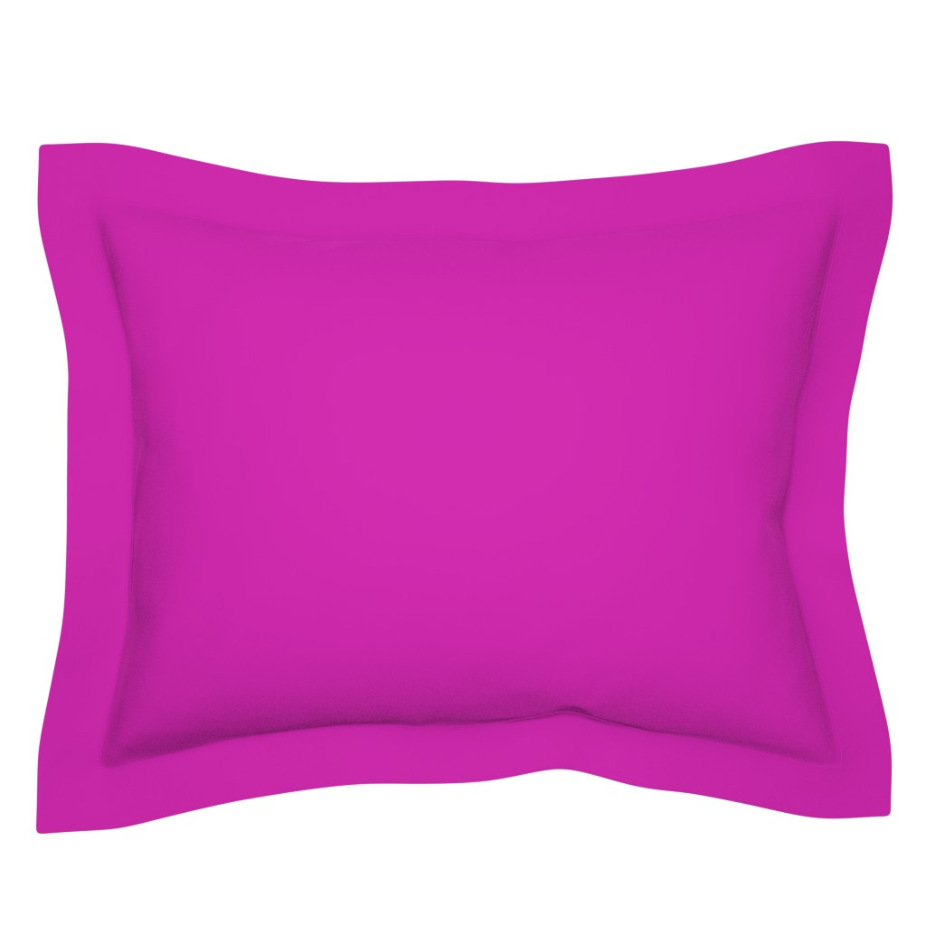 Sebright Pillow Sham featuring Pink Fuchsia Solid Summer Party Color by paper_and_frill
