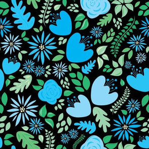 Spring Blossoms in Blue