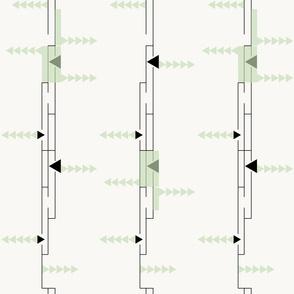Scrambled: Luna Moth & Spanish Green, Abstract Minimalism