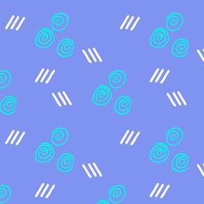 Abstract Minimalist blue