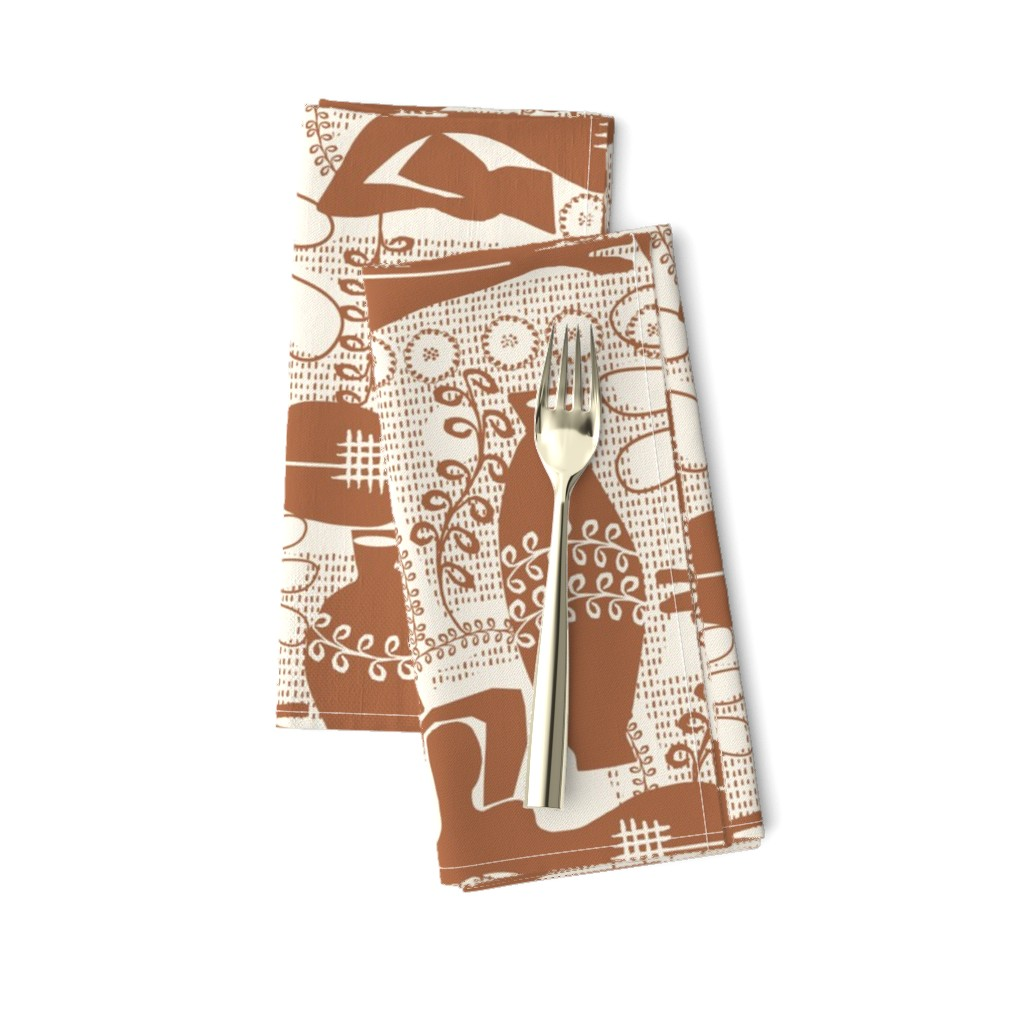 Amarela Dinner Napkins featuring Did Matisse read in the winter?  Bronze by ottomanbrim