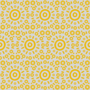 Yellow Circle Targets and Dashes