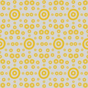 Yellow Target Circle PatternCircles Target