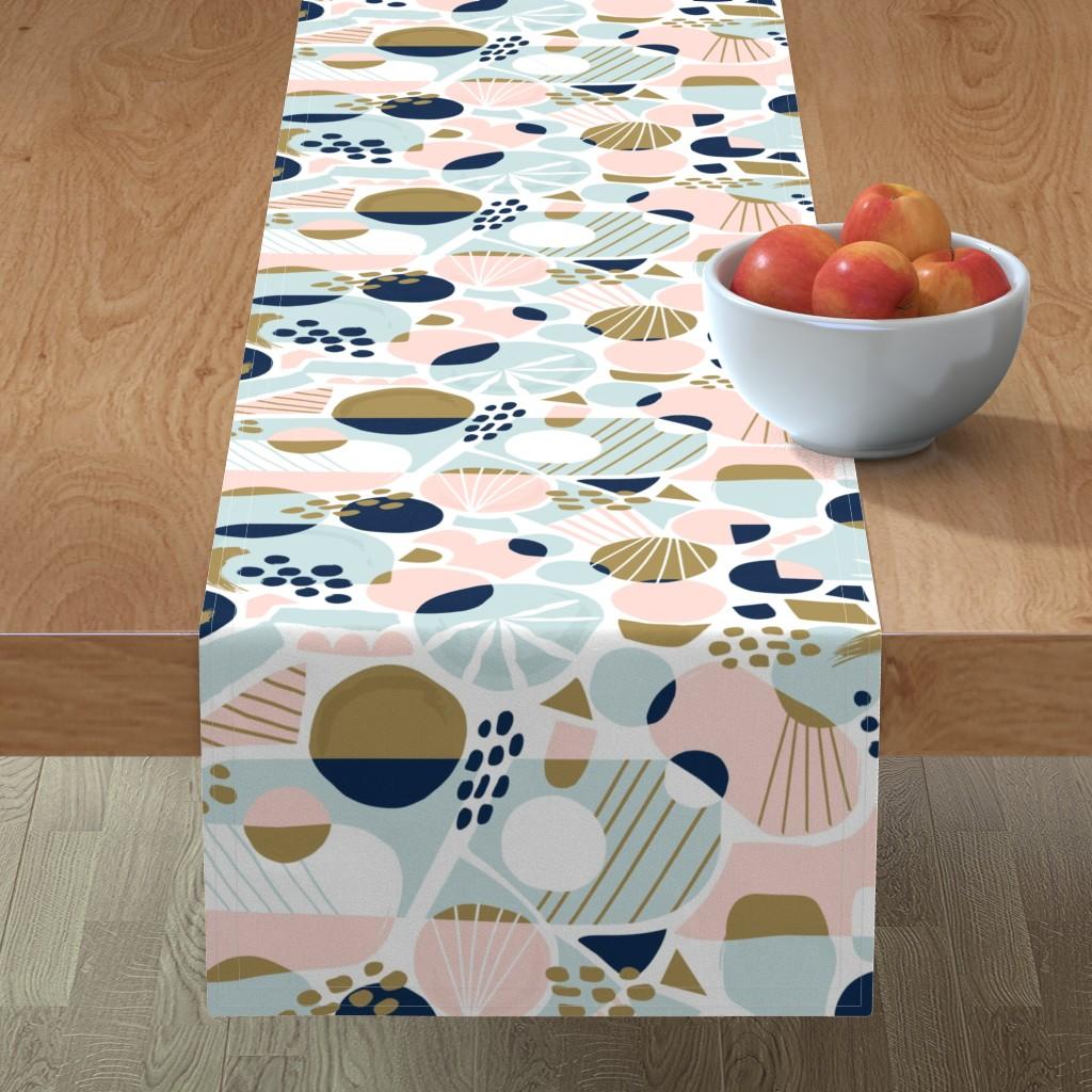 Minorca Table Runner featuring Sun Burst Abstract by rosalindmaroneyillustration