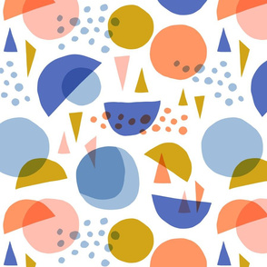 Scandinavian abstract circles and triangles