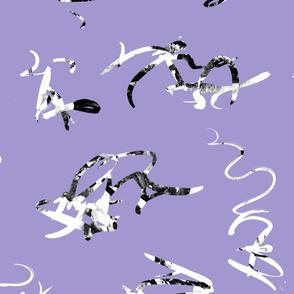 Purple violet squiggles minimalist
