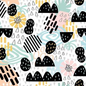 rainy summer abstract minimalist