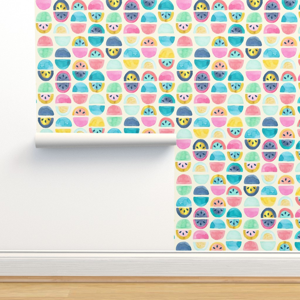 Isobar Durable Wallpaper featuring Slice of Happy by gingerlique