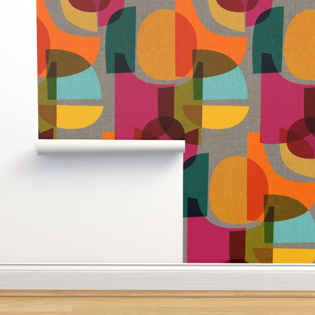 Isobar Durable Wallpaper featuring Mid Century Kaleidoscope by ceciliamok