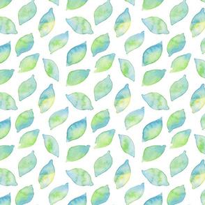 Watercolor Mint Leaves