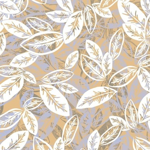 Leaf Garlands White on Jute 300
