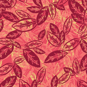 Leaf Garlands Pinot Noir on White Merlot 300
