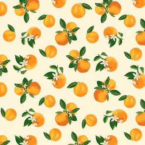 Scattered orange blossoms