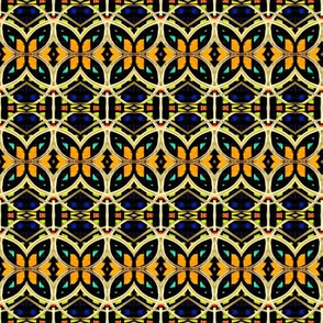 Blue Yellow Orange Interlock Circles