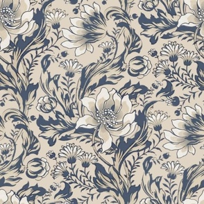 William Morris ~ Acanthus, Tulips, and Marigolds ~  Original