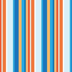 Monster Stripes Coordinate in Orange and Blue