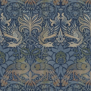 William Morris ~ Peacock and Dragon ~ Original
