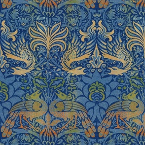 William Morris ~ Peacock and Dragon ~ Bright Original