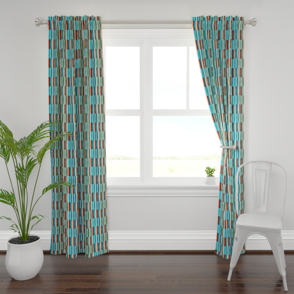 Plymouth Curtain Panel featuring 195-0B by miamaria