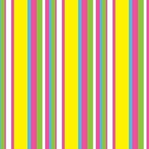 Monster Stripes Coordinate in Pink,  Yellow, and Green
