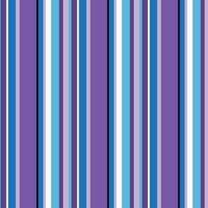 Monster Stripes Coordinate in Purple and Blue