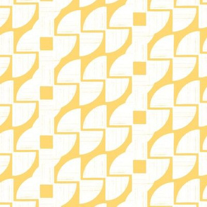 Around in Circles Sunset Gold Geometric Stripe by Angel Gerardo