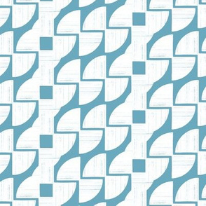 Around in Circles Ocean Blue Geometric Stripe by Angel Gerardo