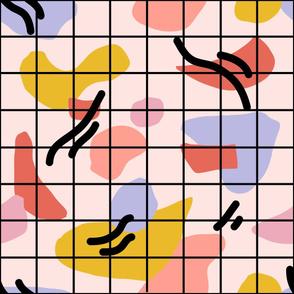 Modern Abstract Minimalist Grid (large)
