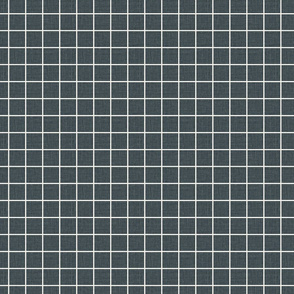"""1"""" grid dark blue grid blue and white natural linen with slubs seamless grid"""