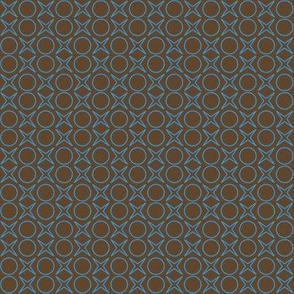minimalist blue on brown