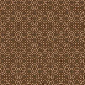 minimalist beige on brown