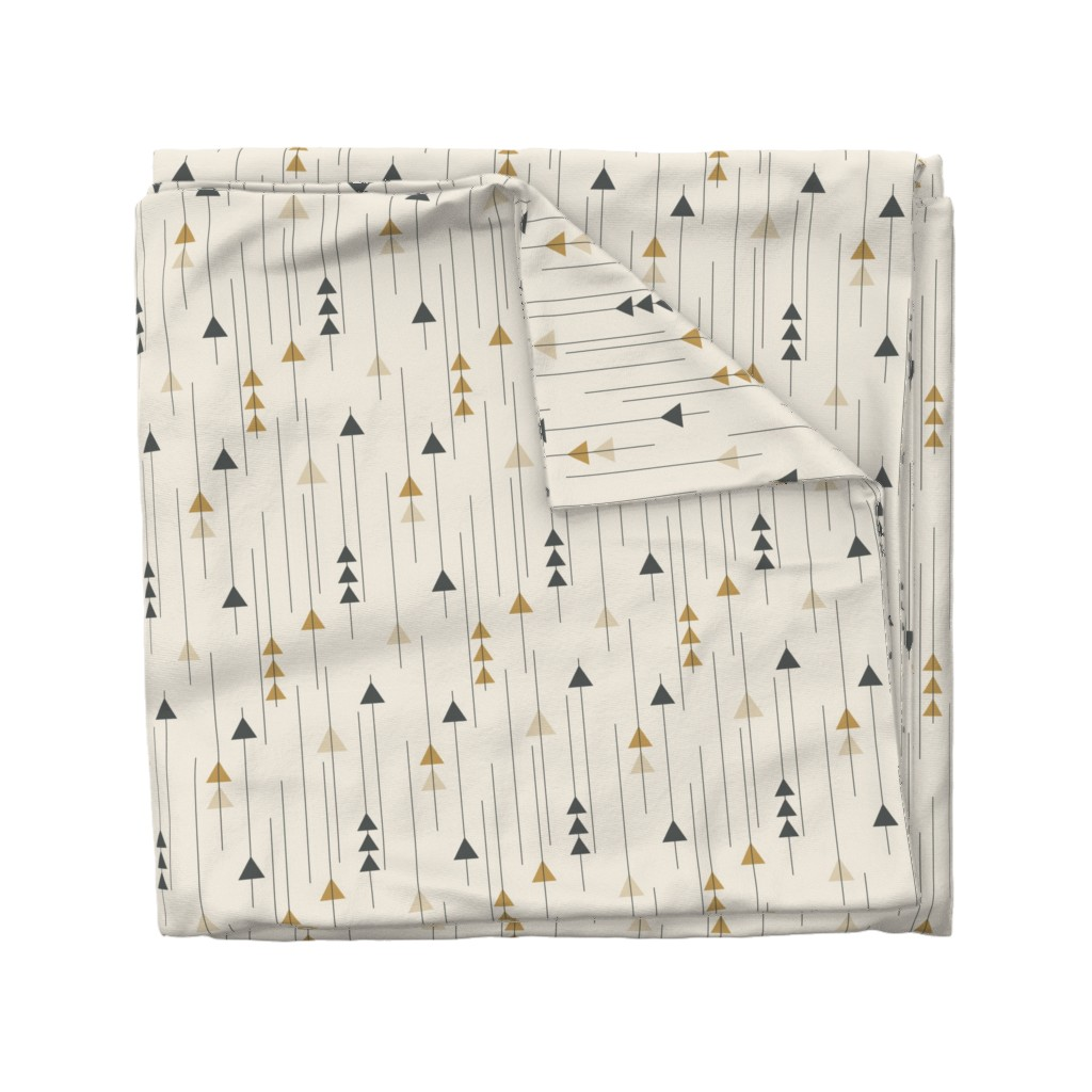Wyandotte Duvet Cover featuring Triangle Drops-Neutral by k_hackl