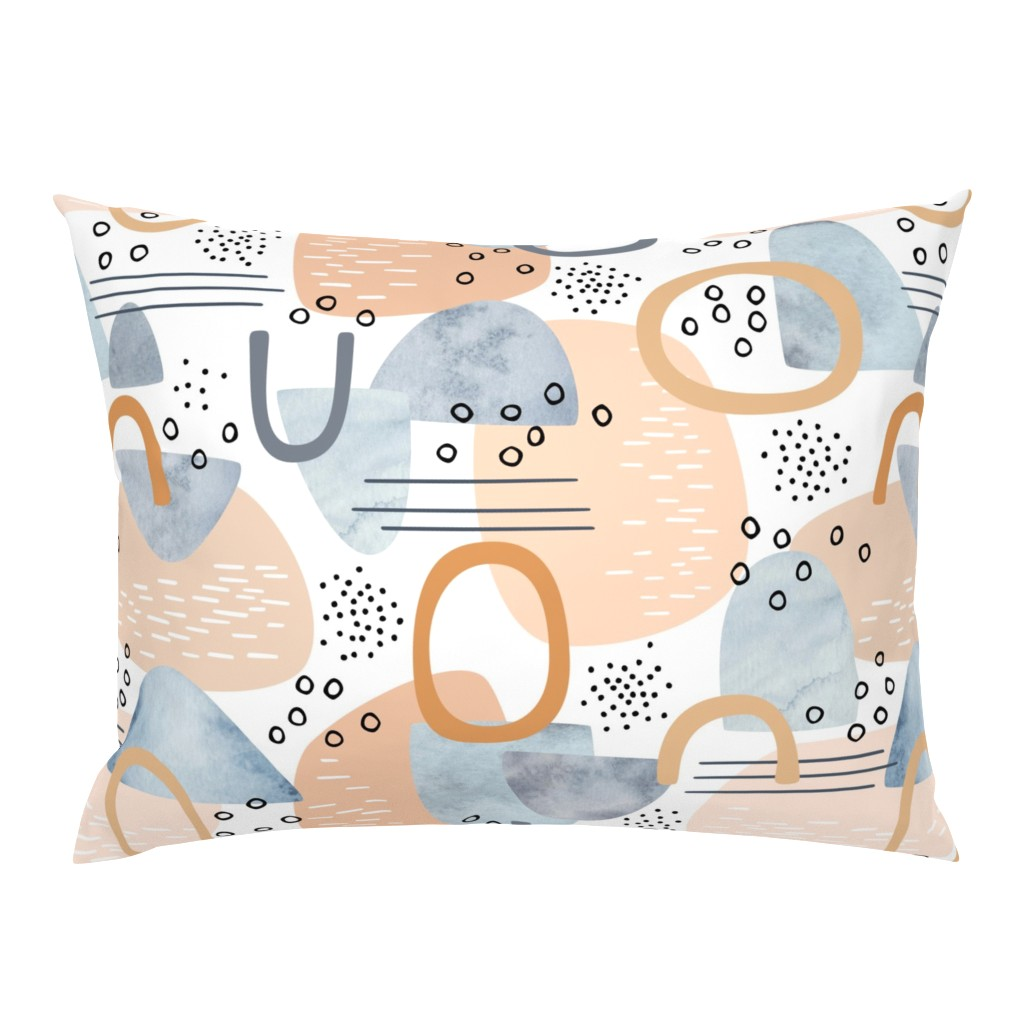 Campine Pillow Sham featuring abstract minimalist by heleenvanbuul