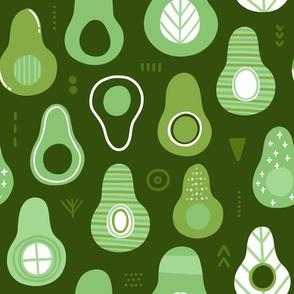 abstract avocados