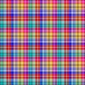 Mini Prints: Multicolor Plaid of Joy
