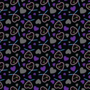 Beating Hearts Fitness Pattern - Purple