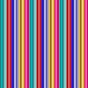 Mini Prints: Multicolor Stripes of Joy